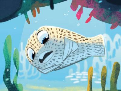 Storia del pesce palla maculato